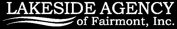 Lakeside Agency of Fairmont Inc White Logo